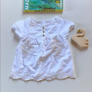 OshKosh | White Embroidered Blouse | 18 Months